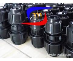 Fitting Compression Joint PE Coupler berbagai ukuran