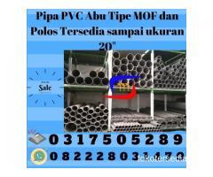 """pipa pvc abu tipe mof dan polos tersedia sampai ukuran 20"""""""