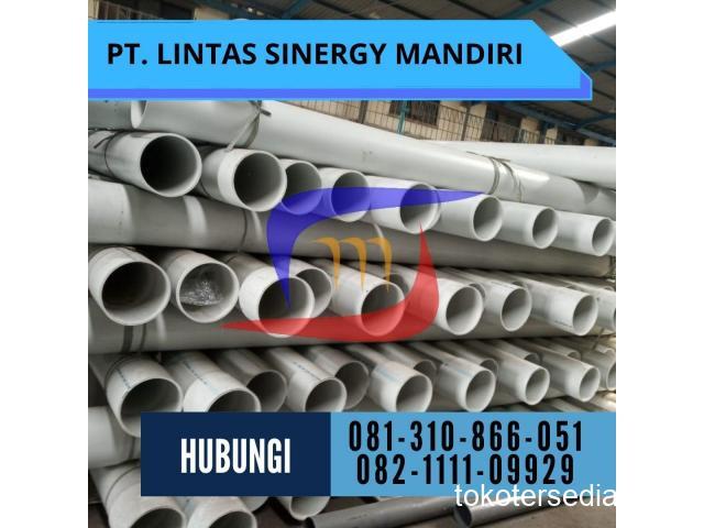 SUPLAYER PIPA PVC MASPION PUTIH PANJANG 4 METER DAN 6 METER