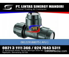 """JUAL FITTING HDPE COMPRESSION TEE EQUAL 1/2"""" - 110 """" MURAH"""