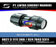 """JUAL FITTING HDPE COMPRESSION COUPLER 1/2"""" - 110"""""""