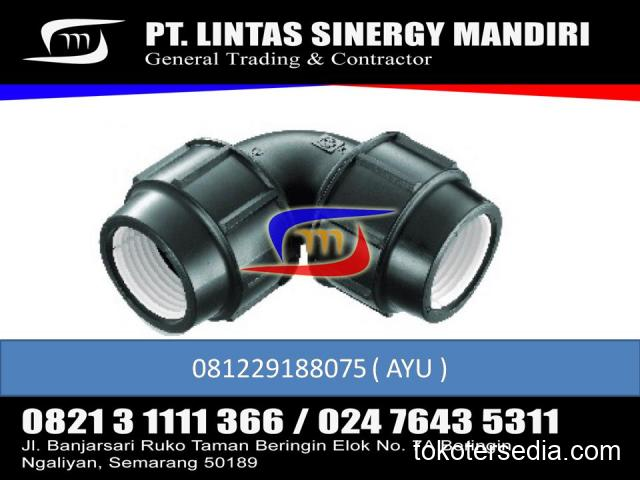 JUAL FITTING HDPE COMPRESSION ELBOW 90 1/2