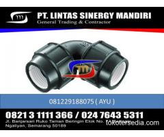 """JUAL FITTING HDPE COMPRESSION ELBOW 90 1/2"""" - 4"""""""