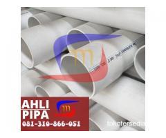SUPLAYER PIPA PVC SUPRAMAS + MOFF PANJANG 4 METER