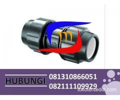 SUPLAYER FITTING HDPE COMPRESSION JOINT COUPLER/SOCKET MURAH HUBUNGI 081310866051